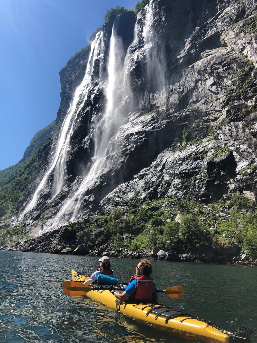 Kayaking the seven sister. Photo: Dagmara Kokonas