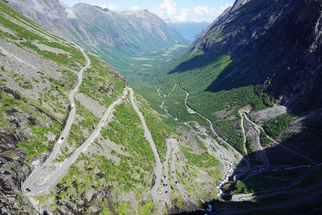 The famous Trollstigen road