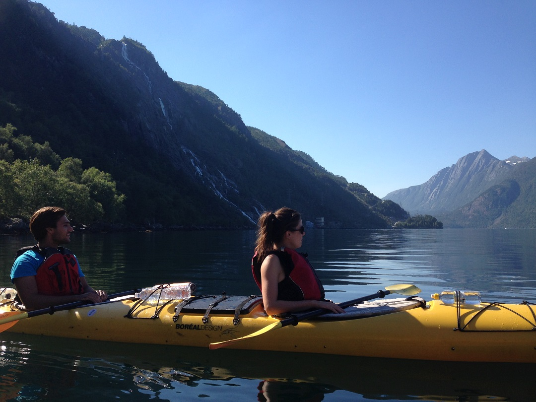 Fjord hiking holiday Norway. Kayaking day, More information in the Day to Day itinerary