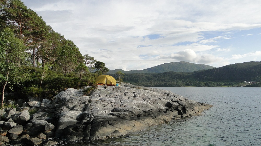 Pitch your tent along the fjord coastline.