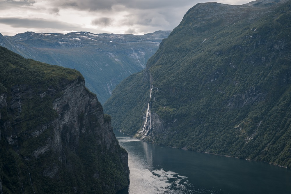 Seven Sisters Waterfall in the Geirangerfjord. Photo: Rytis Media