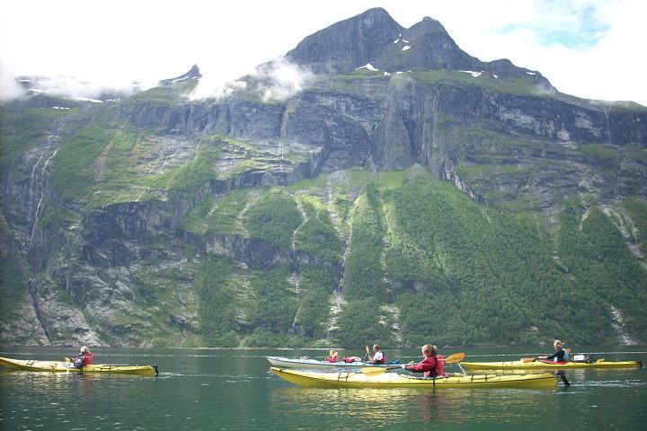 Geirangerfjord kayak adventure