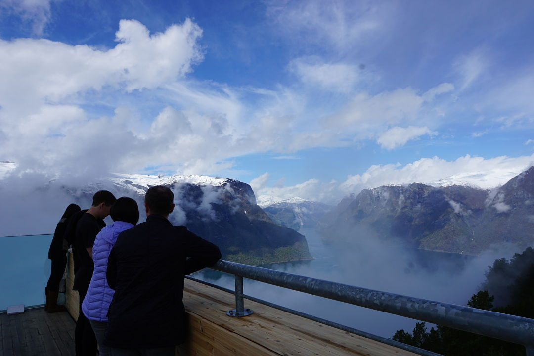 Stegastein view point. Norway Adventures vacation