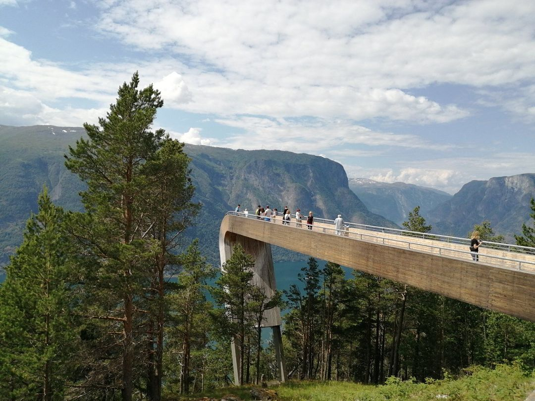 Stegastein viewpoint lookout. Norway Adventures vacation