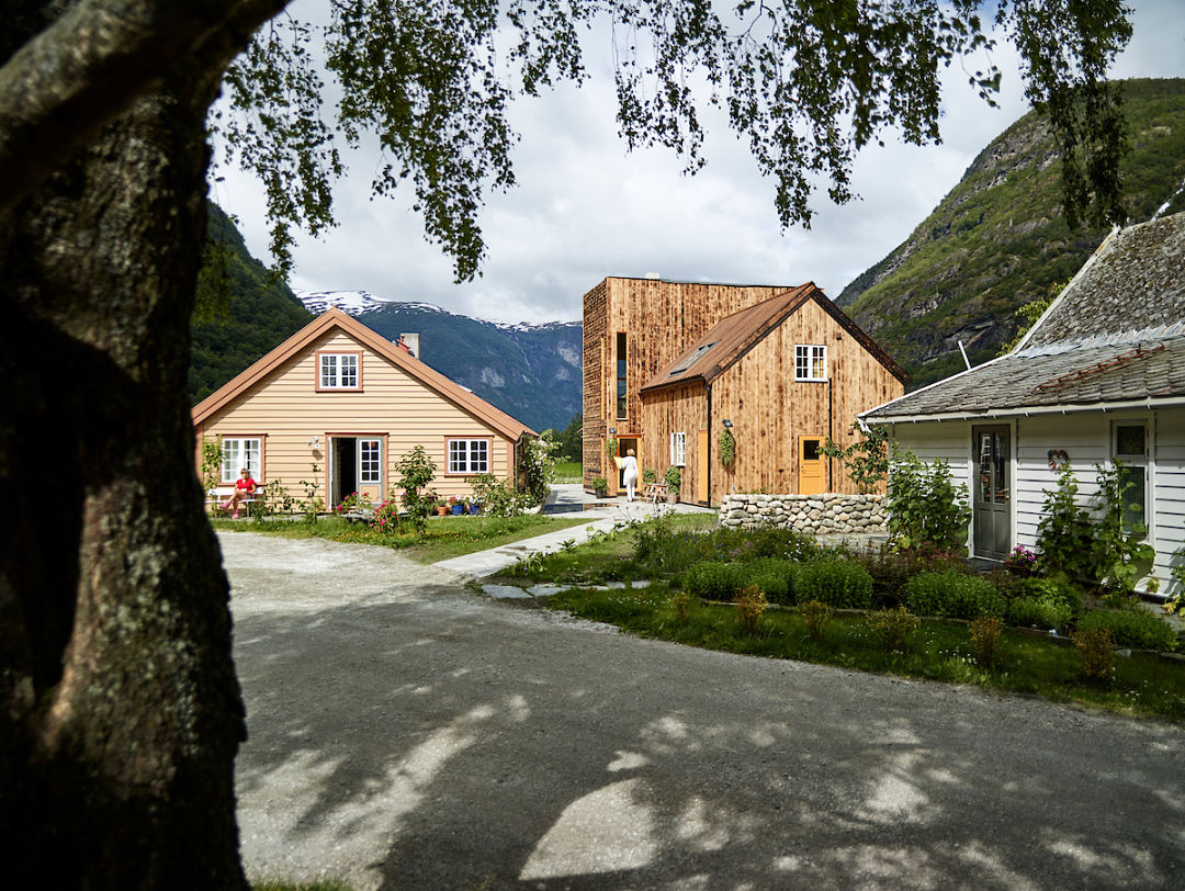 Riverside farm lodge. Norway Adventures vacation