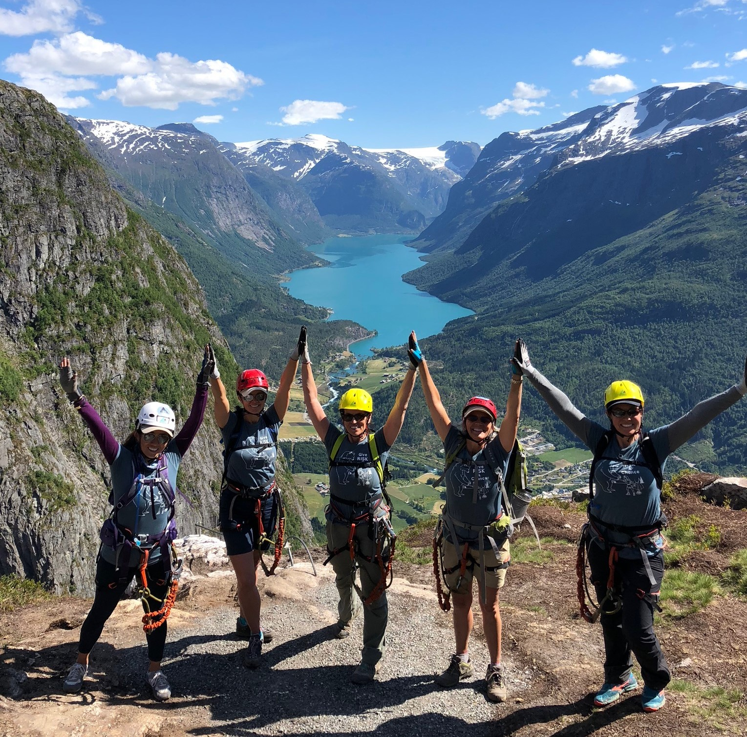 Experience the fjord from up high, lots of climbing required!
